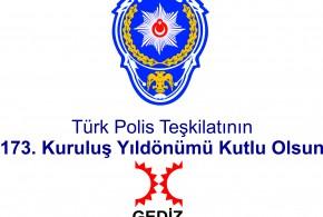 Türk Polis Teşkilatının 173. Kuruluş Yıldönümü Kutlu Olsun